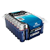 Rayovac Alkaline AA Batteries, 815-48PPTF, 48-Pack with Recloseable Lid