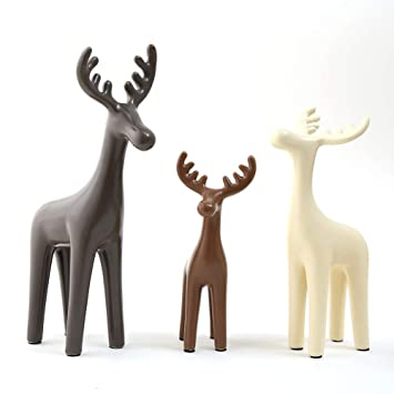 Ceramic Deer Ornaments