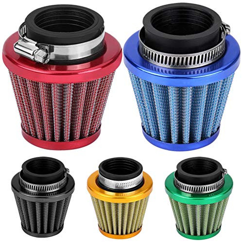 CUHAWUDBA 38Mm Air Filter Intake Induction Kit Universal for Off-Road Motorcycle ATV Quad Dirt Pit Bike Mushroom Head Air Filter Cleaner Gold