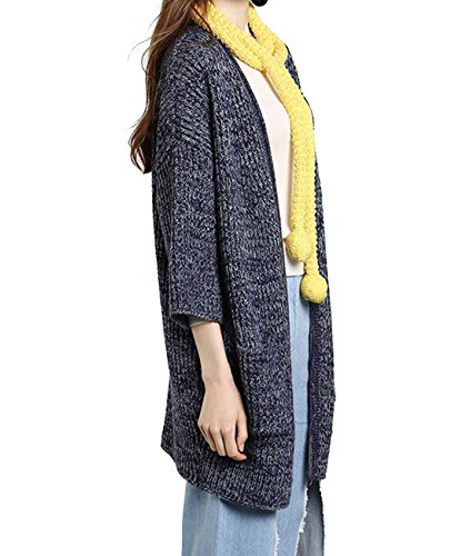 CeXin - Abrigo - chaqueta - para mujer Azul