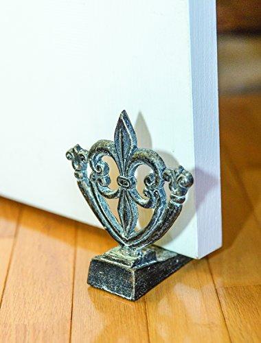 MW Fleur De Lis Door Stop Set of2 5X4.75X5.75 ()