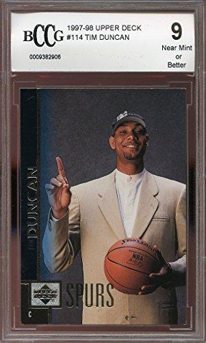 1997-98-upper-deck-114-tim-duncan-san-antonio-spurs-rookie-card-bgs-bccg-9-graded-card