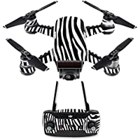 Skin for DJI Spark Mini Drone Combo - Black Zebra| MightySkins Protective, Durable, and Unique Vinyl Decal wrap cover | Easy To Apply, Remove, and Change Styles | Made in the USA