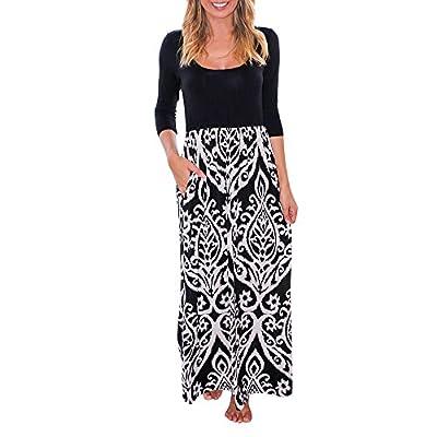 Muranba Womens Dresses Striped Long Boho Dress Lady Beach Summer Sundrss Maxi Dress