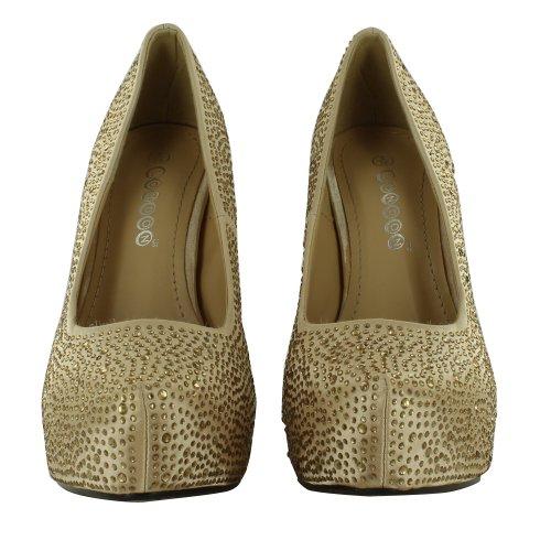 Footwear Sensation - Sandalias de vestir para mujer dorado - dorado