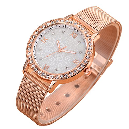 (Womens Quartz Wrist Watch with Simple Dial Style Bracelet, Fashion Luxury Dress Watches for Women )