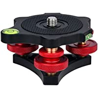 Desmond DLEVX-68 Leveler w Bubble Level for Tripod 3/8 Precision Tri-Wheel Leveling Base