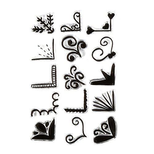 Clear Stamps Small Tag (DECORA Perfectly Ornamental Clear Rubber Stamps Different Pattern for Card Making)