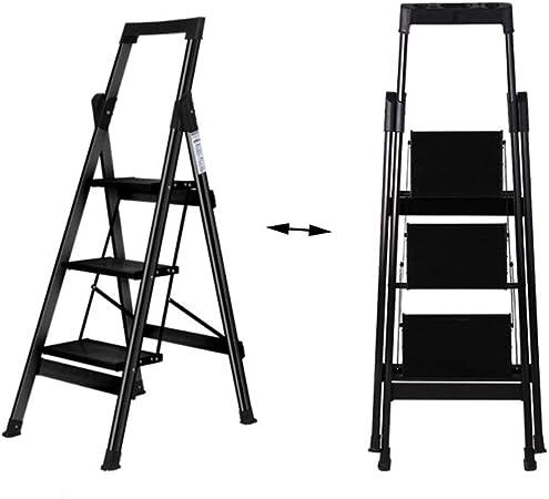 XSJZ Taburete Multifuncional, Mini Plegado de 3 Pasos de Aleación de Aluminio Ascendente con Escalera de Pasamanos para Escaleras de Trabajo En Interiores Y Exteriores Escalera Plegable (Color : A): Amazon.es: Hogar
