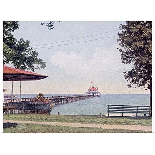 GREATBIGCANVAS Poster Print Entitled The Yacht Club Pier Monroe Park Mobile Alabama Vintage Photograph by The Henry Ford 40