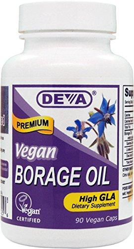 Deva - Vegan Borage Oil 500 mg 90 cap Vegi Deva Vegan Borage Oil