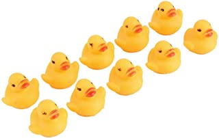 Fliyeong Durable 10pcs Duck Floating Bath Toy Bathtime Water Toys Rubber Squeaky Ducks for Baby Girsl Boys