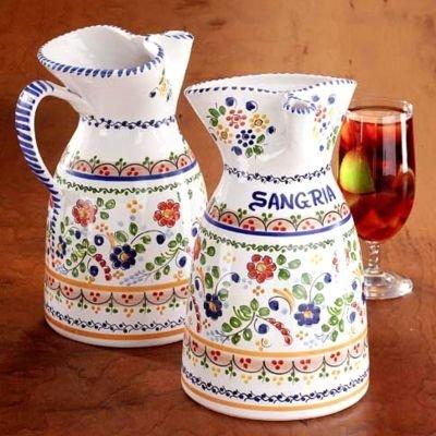 Colorful Flor Ceramic Sangria Pitcher (1/2 gallon capacity)