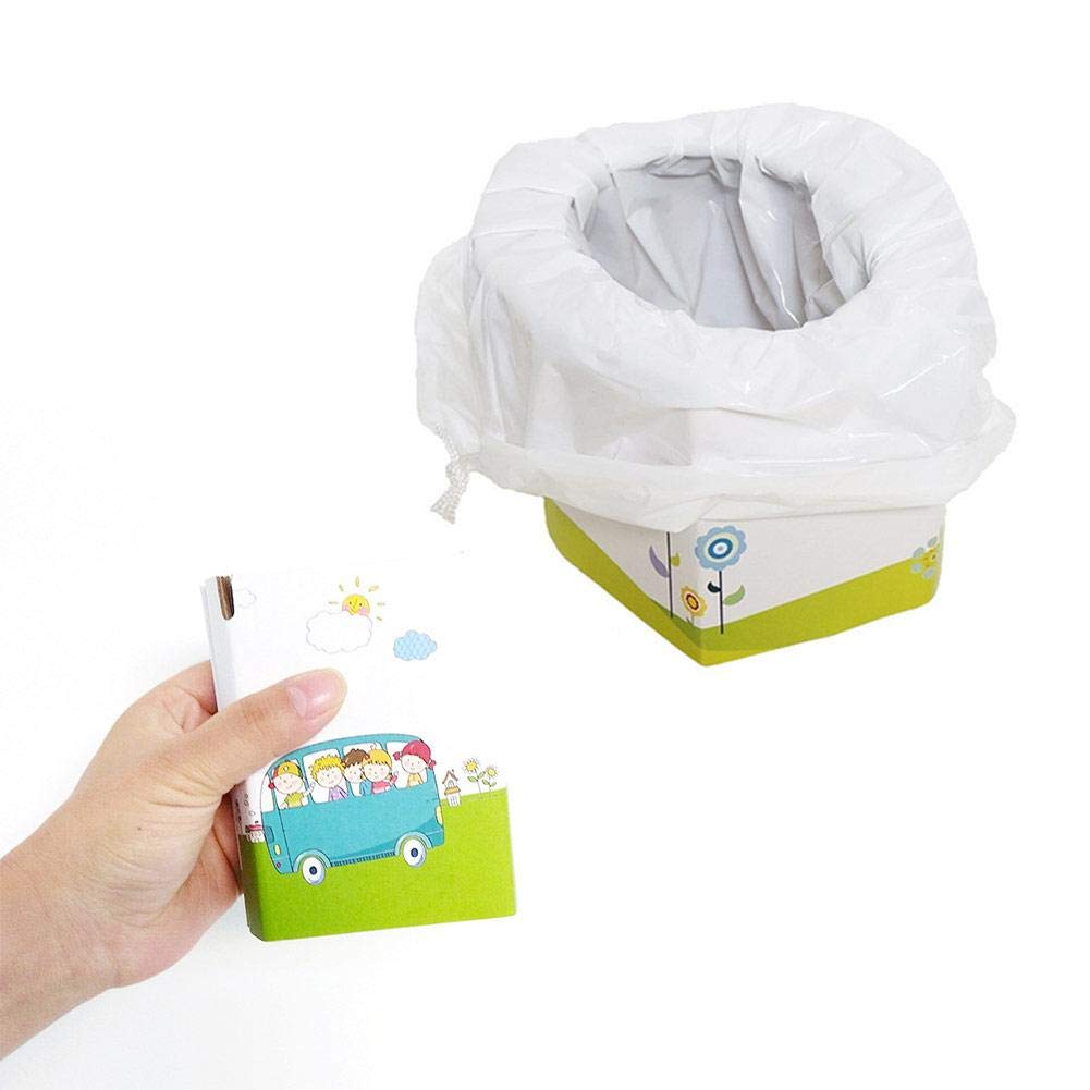 Dough.Q Zusammenklappbare tragbare Toilette f/ür Kinder