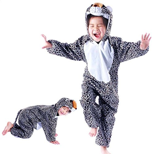 Boys Cheetah Costume (Children Party Costume Cartoon Animal Kids Cosplay Costume Clothes Performance (M(Height 35.4