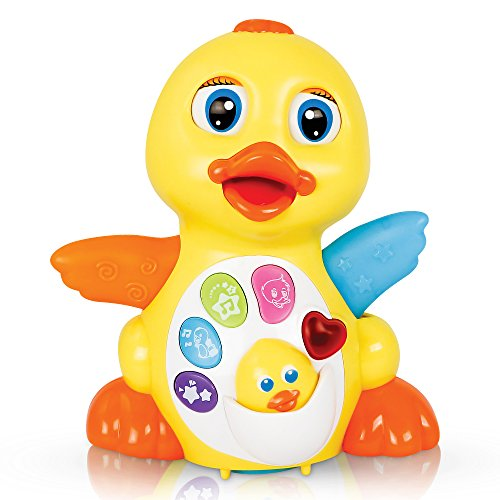 CifToys Baby Toys Musical Duck Toys for 1 Year Old Boy Girl Gifts with Lights and Adjustable Sound