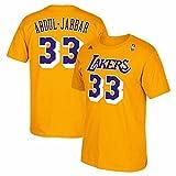Los Angeles Lakers Kareem Abdul Jabbar Throwback Adidas T Shirt (XL)