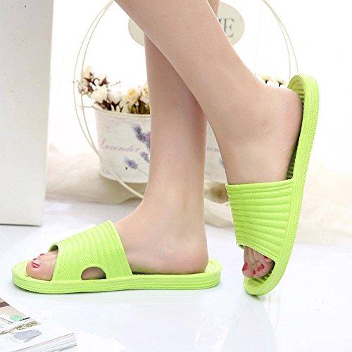 8598af81 ESHOO Mujer Cómodo Slip On Slide Sandalias Zapato de baño ducha suelo,  plástico, Amarillo
