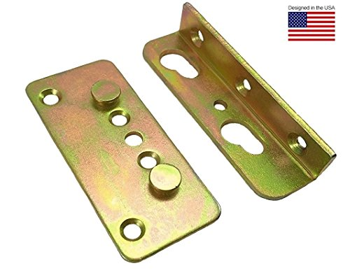 Make Complete Bed (Premium No-Mortise Bed Rail Brackets (Complete Set of 4))