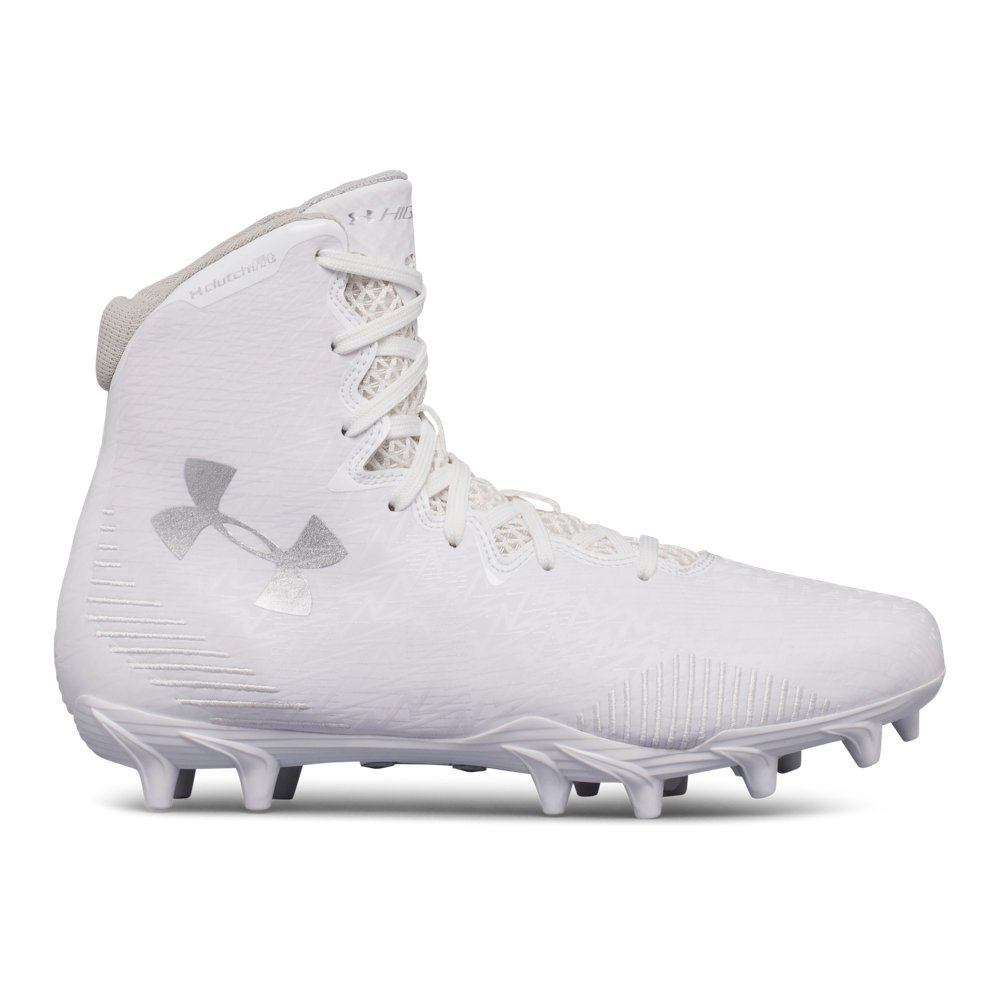 Under Armour Women's Lax Highlight MC Lacrosse Shoe, (104)/White, 8 by Under Armour