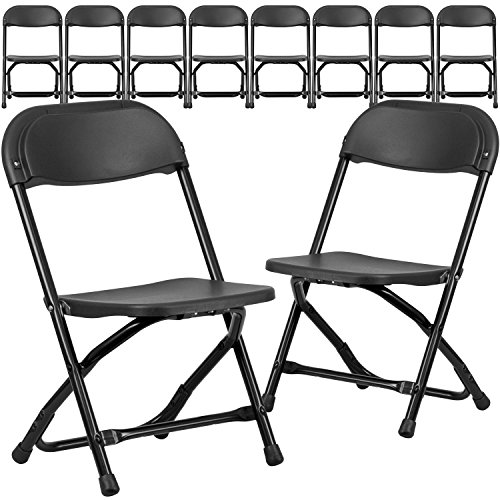 Flash Furniture 10 Pk. Kids Black Plastic Folding Chair by Flash Furniture