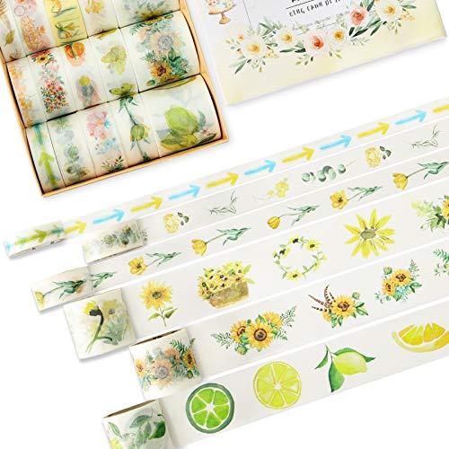 SallyFashion Vintage Washi Tape, 20 Rolls Craft Tape Decorative Tape for DIY Crafts Scrapbooking Bullet Journals Planners