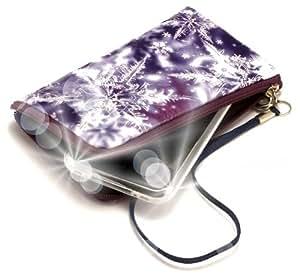 """""""Secreto"""" Azul, Lujosa billetera acolchado con cierre, acabado brillante para Samsung B5310 CorbyPRO. Auténtica Funda / Estuche con correa para transportar para teléfonos móviles."""