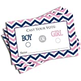 Gender Reveal Vote Cards - Large Card size 4 X 2.5 inches (50-cards)