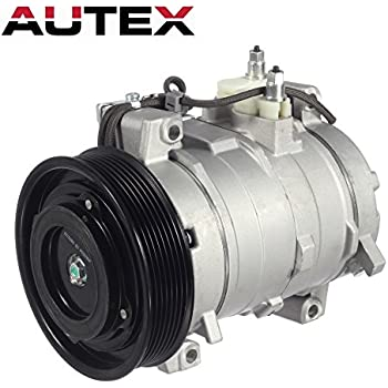 AUTEX AC Compressor & A/C Clutch CO 28003C 38810RAAA01 77389 6512109 Replacement for 2003 2004 2005 2006 2007 Honda Accord 2.4L