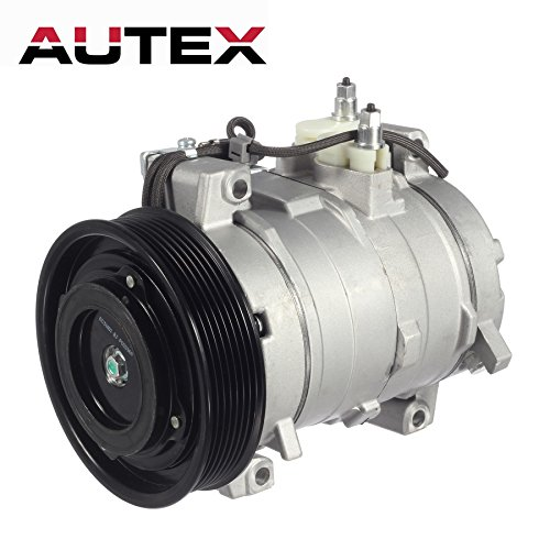 AUTEX AC Compressor & A/C Clutch CO 28003C 38810RAAA01 77389 6512109 Replacement for Honda Accord 2003 2004 2005 2006 2007 - Accord A/c Compressor Honda
