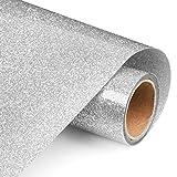 Glitter Silver Heat Transfer Vinyl