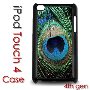 For Ipod Touch 5 Case Cover gen Touch Plastic Case - Peacock Feather