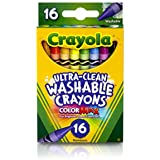 Crayola 526916 Ultra-Clean Washable Crayons, Regular, 8 Colors (Box of 16 Crayons)