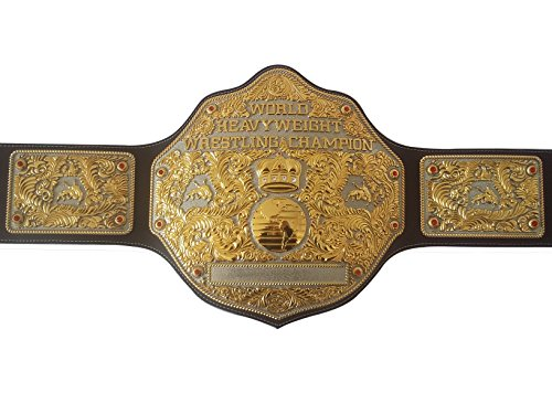 Fandu Belts Adult Nickel Gold Big Gold Championship Belt Title 8mm Thick (Big Gold Belt)
