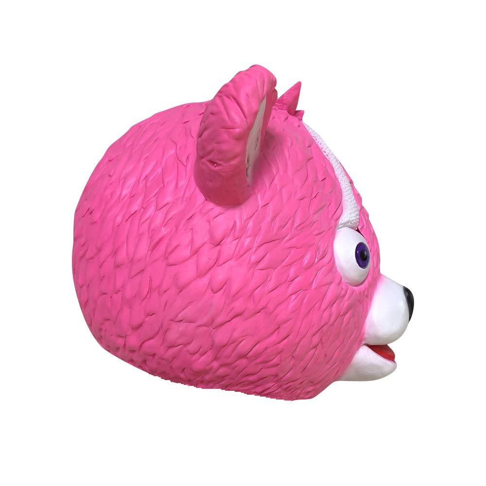 yacn fortnite Pink Bear Juego Máscara Disfraz Chica Juguete Full Head Mask para Niños: Amazon.es: Juguetes y juegos