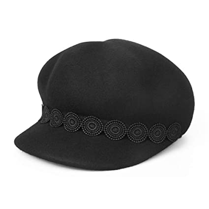 89884608a91a3 Dig dog bone Lace Flower Decoration Wool Felt Cloche Fedora Hat for Ladies  Church Bowler Hats Derby Party Fashion Winter Women Casual Soft Classic Cap  ...