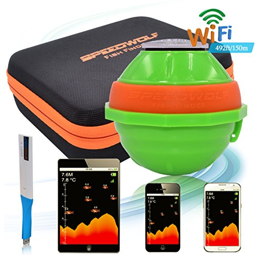SPEEDWOLF 492ft Long Distance Portable Wireless Sonar WIFI Sounder Fish Finder Chartplotter Graph by SPEEDWOLF