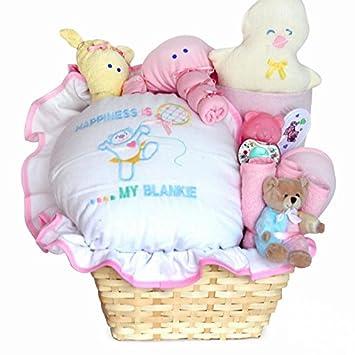 Amazon.com : Happiness is a New Baby Girl Gift Basket : Baby
