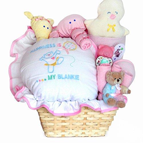 Amazon.com: Felicidad Es un Nuevo bebé niña cesta de regalo ...
