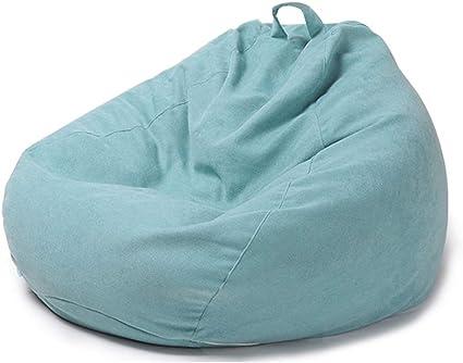 Fodera Pouf Puff con Borsa di Lavaggio Senza Riempire,Blu,60 * 70cm LDIW Copertura per Poltrona a Sacco Copertura per Pouf in Tessuto Corto di Peluche