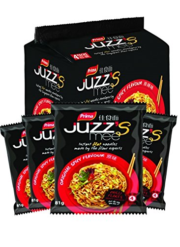 Juzz#039s Mee Instant Flat Noodle Original Spicy Flavor 28 Ounce