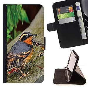 Momo Phone Case / Flip Funda de Cuero Case Cover - Oiseau Été Arbres orange - Samsung Galaxy J3 GSM-J300