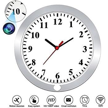 Amazoncom 2015 Model WiFi Wall Clock Hidden HD Camera 1080p