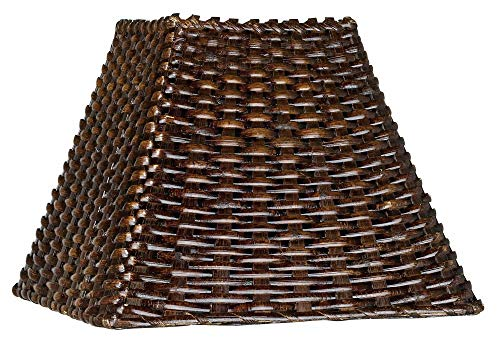 (Wicker Square Lamp Shade 4.75x11x8 (Spider) - Brentwood)