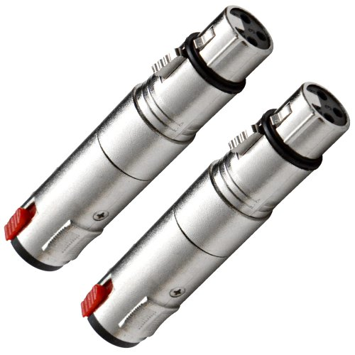 Seismic Audio - NEW Pack of Two Locking XLR Female to Stereo/TRS 1/4