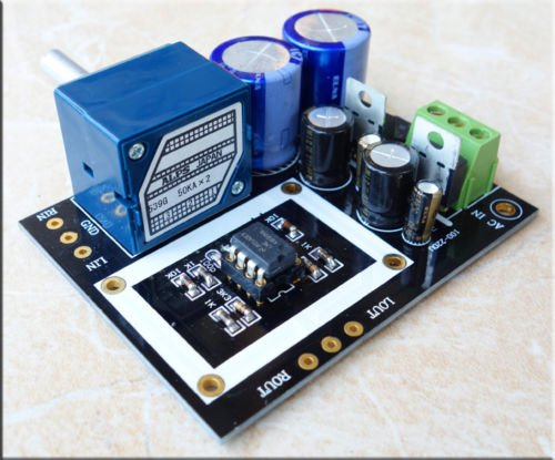 Nobsound Full DC shielded OP-AMP HiFi Preamplifier Preamp Assembled board by Douk Audio