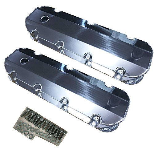 Fabricated Aluminum Tall Valve Covers for BBC Big Block Chevy 396 454 (Big Block Valve Cover)