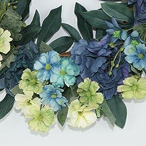 Beautiful Wreaths | Blended Hydrangea Wreath | Summer Wreaths | Front Door Wreaths | Fall Wreath | Outdoor Wreaths | Summer Wreath 4