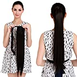 18'' Straight Ponytail Hair Extension Human Hair Wrap Ponytail Hairpiece 100g Natural Black 1b#
