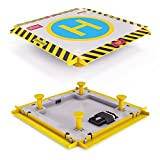 Image of Remote Control Helicopter Landing Pad - Complete Edition - LED Lights Installed - Suitable for RC Helicopters, Quadcopters, Drones, Syma Helicopters